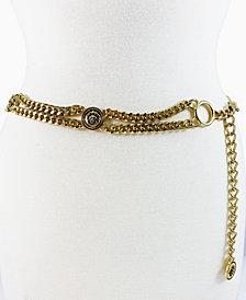 Women's Lion Head Curb Link Chain