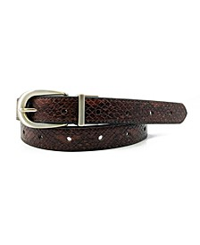 Women's Reversible Python Belt