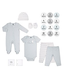 PSP Baby Girl and Boy 20 Piece Gray Little Dreamer Pattern Hanging Gift Set