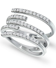 Cubic Zirconia Five Row Wrap Ring in Sterling Silver, Created for Macy's