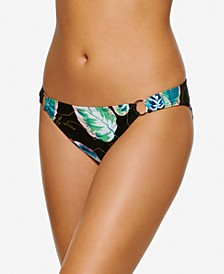 Juniors' Twisted Palms Ring-Detail Hipster Bikini Bottoms, Created for Macy's
