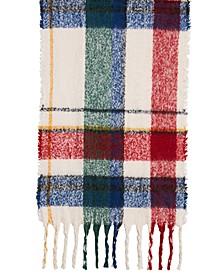 Spacious Plaid Blanket Wrap