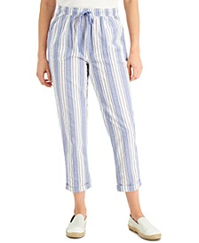 Striped Cuffed Capri Pants, Created for Macy's