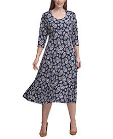 Tommy Hilfiger Plus Size Paisley Fit & Flare Midi Dress