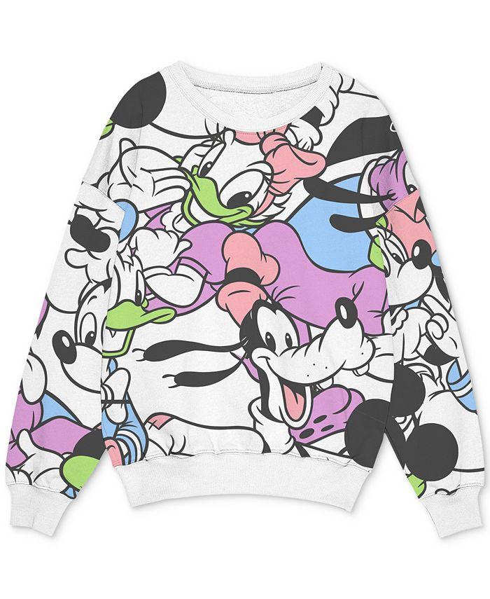 Freeze 24-7 - Trendy Plus Size Mickey-Print Sweatshirt