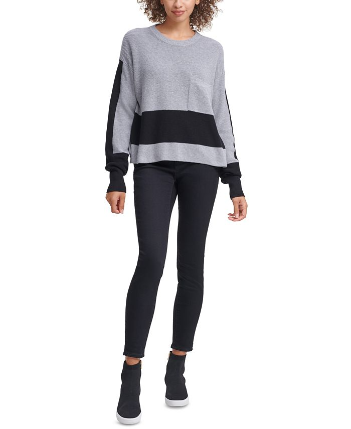 DKNY Jeans - Cotton Colorblocked Sweater