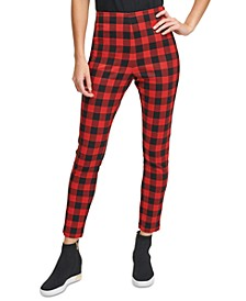 Plaid Pull-On Leggings