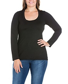 Women's Plus Size Long Sleeves T-Shirt