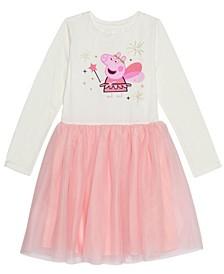 Disney Little Girls Dress with Mesh Skirt