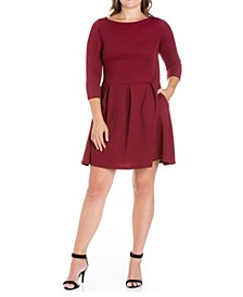 Women's Plus Size Perfect Fit and Flare Dress