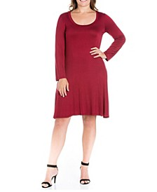 Women's Plus Size Flared Dress