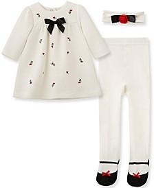 Baby Girl Rosebud Dress Set-Hband