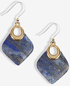 Gold-Tone Lapis Drop Earrings