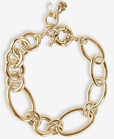 Gold-Tone Round & Oval Link Bracelet