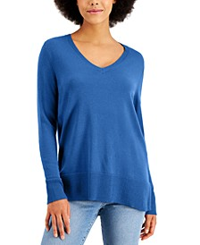 V-Neck Band-Hem Sweater, Created for Macy's