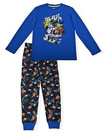 Big Boy's 2 Piece Pajama Set with Socks