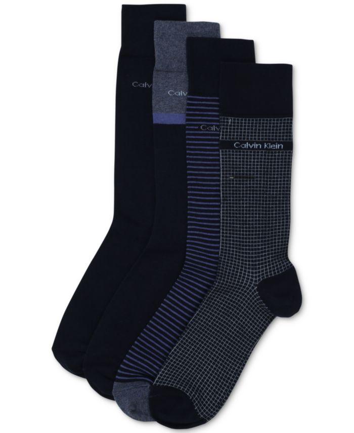 Calvin Klein Men's 4-Pack Stripe/Heel Dress Socks & Reviews - Underwear & Socks - Men - Macy's