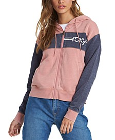 Juniors' Wind Down Zip-Up Hoodie