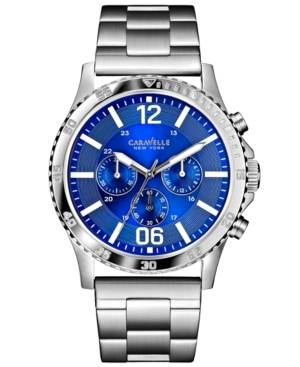 Caravelle New York by Bulova Men's Chronograph Stainless Steel Bracelet Watch 44mm 43A116