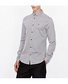 Long Sleeve Jacquard Button Up Shirt