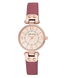 Mauve Genuine Leather Strap 26mm