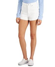 Juniors' Ultra High-Rise Curvy-Fit Jean Shorts