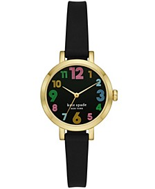 Metro Black Silicone Watch 30mm