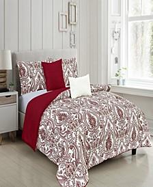 Fatima Reversible King Comforter Set, Piece