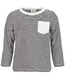 Baby Boys Striped Pocket Cotton T-Shirt, Created for Macy's