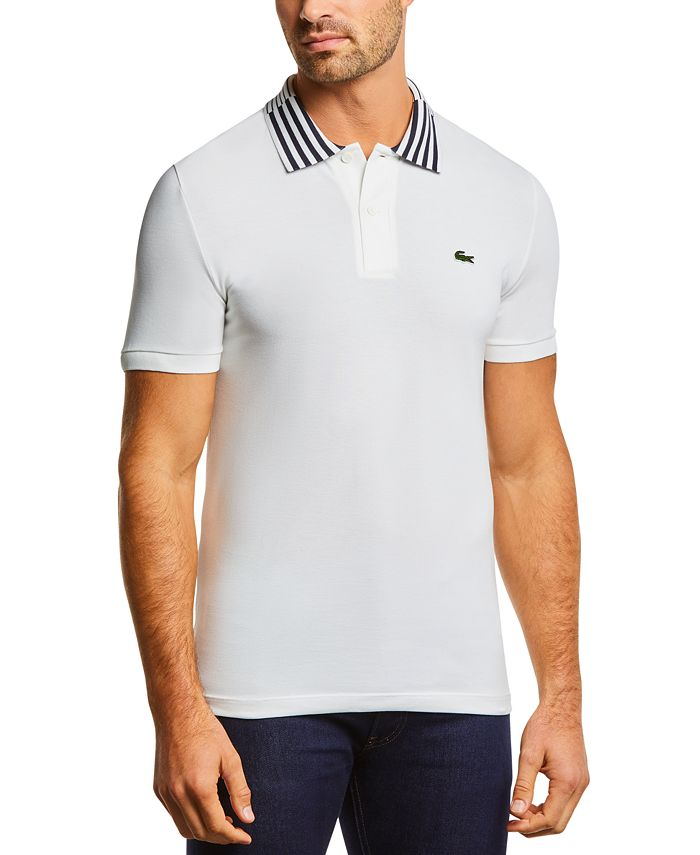 Lacoste - Men's Slim-Fit Striped Collar Polo