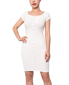 Juniors' Henley Bodycon Dress