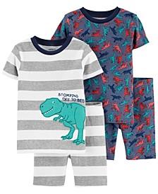Toddler Boys 4-Piece 100% Snug Fit Cotton PJs