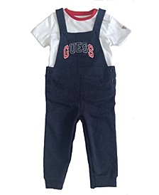 Baby Boys Short Sleeve T-shirt & French Terry Overall Set