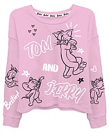 Juniors Tom & Jerry Graphic Print Top