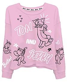 Juniors Tom & Jerry Graphic Print Top