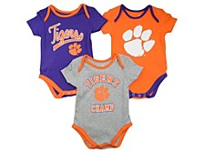 Baby 3-Pk. Clemson Tigers Champ Cotton Bodysuits