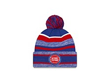 Detroit Pistons Striped Marled Knit Hat