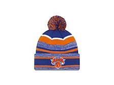 New York Knicks Striped Marled Knit Hat