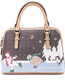 Signature Bears Dome Satchel, Created for Macy's