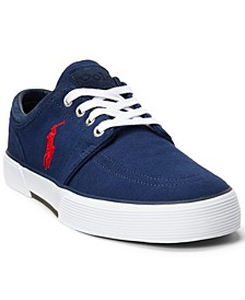 Men's Faxon Herringbone Lace-Up Low-Top Sneakers