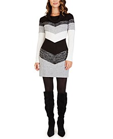 Juniors' Colorblocked Sweater Dress