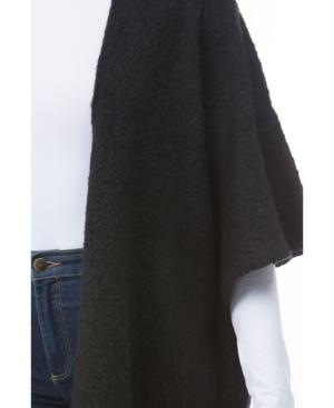 Marcus Adler Women's Cozy Fringe Ruana In Black