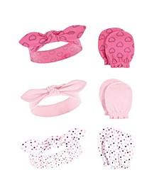Girls Cotton Headband and Scratch Mitten Set