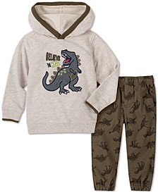 Baby Boys 2-Pc. Dino Hoodie & Printed Pants Set