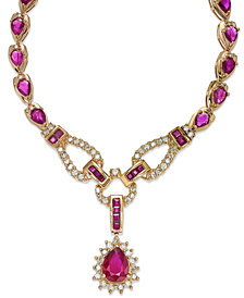 Certified Ruby (11-3/8 ct. t.w.) and Diamond (1-1/10 ct. t.w.) Fancy Collar Necklace in 14k Gold