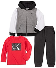 Baby Boys 3-Pc. Shirt, Hoodie & Pants Set