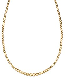 Graduated Bead Necklace in 14k Gold over Resin