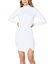 Ribbed-Knit Sweater Dress