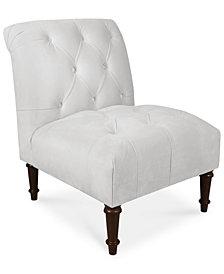 Bradbury Velvet Tufted Accent Chair, Quick Ship