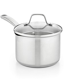Classic Stainless Steel 3.5 Qt. Covered Saucepan